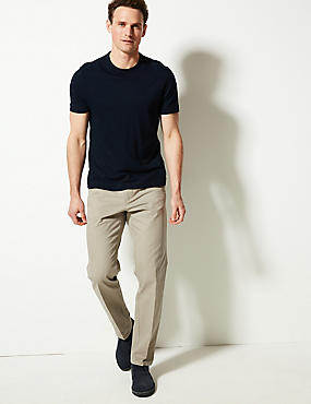 Pure Cotton Regular Fit Chinos, NATURAL, catlanding