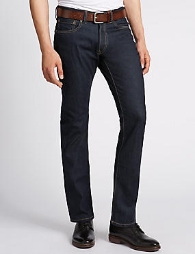 Rinsed Wash Slim Fit Jeans with Belt