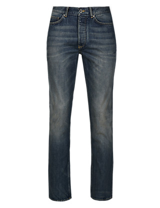 Slim Fit Authentic Washed Jeans Clothing