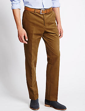 Tailored Fit Stretch Corduroy Trousers