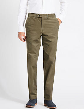 Cotton Corduroy Trousers with Stretch