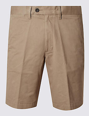 Pure Cotton Shorts with Adjustable Waist, PUTTY, catlanding