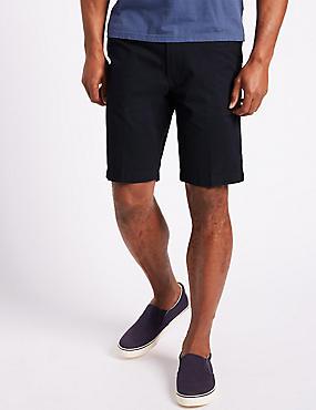 Pure Cotton Chino Shorts, NAVY, catlanding