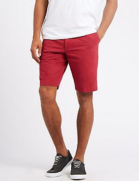 Big & Tall Pure Cotton Chino Shorts, RED MIX, catlanding