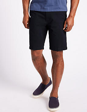 Big & Tall Pure Cotton Chino Shorts, NAVY, catlanding