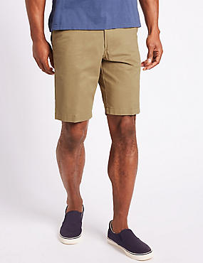 Big & Tall Pure Cotton Chino Shorts, PUTTY, catlanding