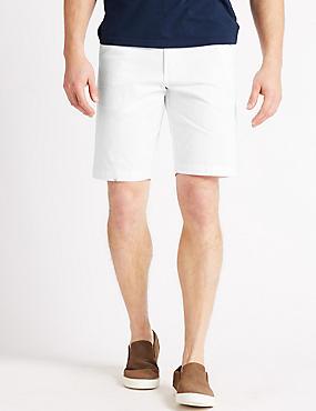 Big & Tall Pure Cotton Chino Shorts, WHITE MIX, catlanding