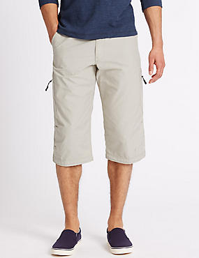 Cotton Rich Trekking Shorts with Belt