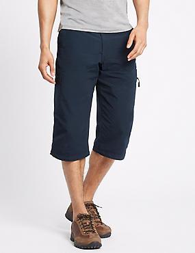 Cotton Rich 3/4 Leg Trekking Shorts, NAVY, catlanding