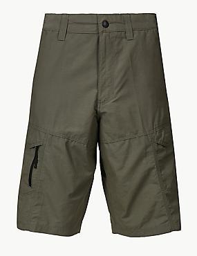 Cotton Rich Trekking Shorts, KHAKI, catlanding