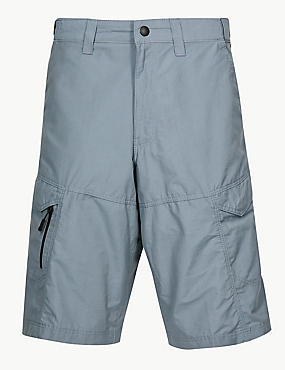 Cotton Rich Trekking Shorts, MID BLUE, catlanding