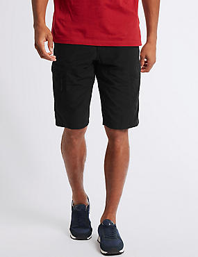 Cotton Rich Trekking Shorts, BLACK, catlanding