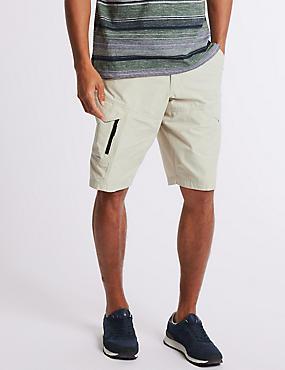 Big & Tall Cotton Rich Trekking Shorts, LIGHT STONE, catlanding