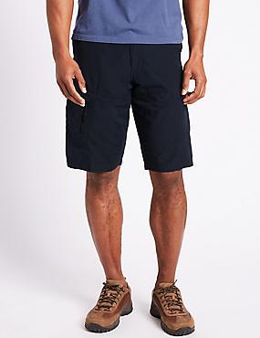 Big & Tall Cotton Rich Trekking Shorts, NAVY, catlanding