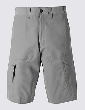 Big & Tall Cotton Rich Trekking Shorts, GREY, catlanding