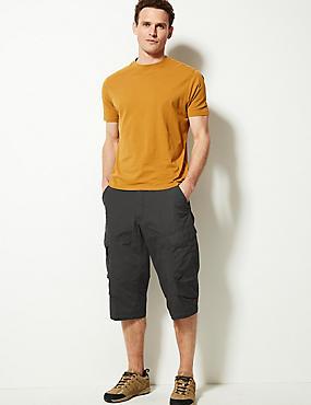 Cotton Rich 3/4 Leg Trekking Shorts, CHARCOAL, catlanding