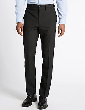 Modern Slim Flat Front Trousers
