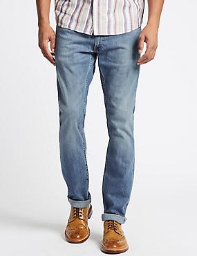 Slim Fit Selvedge Jeans with Stormwear™, LIGHT BLUE, catlanding
