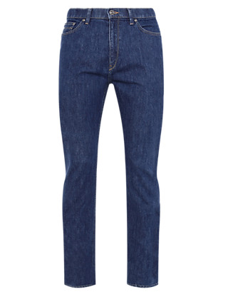 Tapered Water Resistant Jeans with Comfort Stretch Clothing