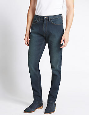 Tapered Fit Water Resistant Jeans