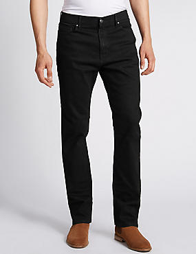 Big & Tall Regular Fit Stretch Jeans with Stormwear™, BLACK, catlanding