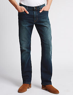 Straight Fit Stretch Jeans with Stormwear™, TINT, catlanding