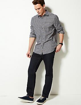 Straight Fit Stretch Jeans with Stormwear™, INDIGO, catlanding