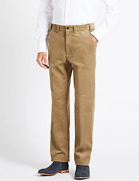 Regular Fit Pure Cotton Corduroy Trousers
