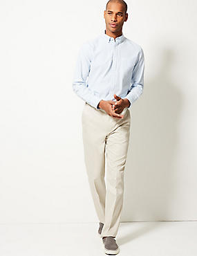 Tailored Fit Pure Cotton Chinos, STONE, catlanding
