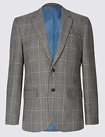 Wool Blend 2 Button Jacket
