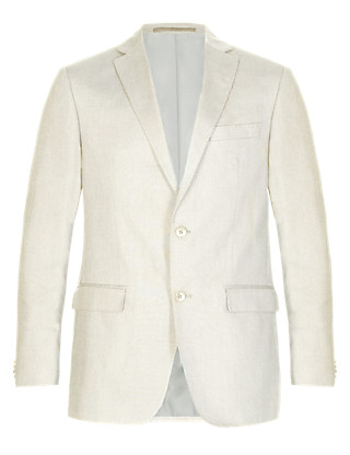 Linen Miracle™ 2 Button Twill Jacket Clothing