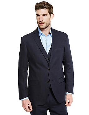 Linen Miracle™ 2 Button Twill Jacket