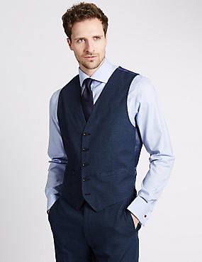 Linen Miracle™ Tailored Fit Waistcoat