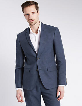 Linen Miracle™ Tailored Fit 2 Button Jacket