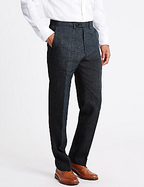 Linen Miracle™ Flat Front Trousers
