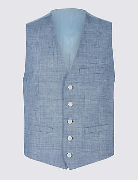 Linen Miracle Tailored Fit Waistcoat