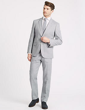 Linen Miracle Regular Fit Textured Jacket, GREY, catlanding