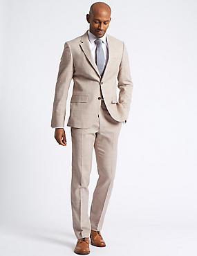 Linen Miracle Tailored Fit Jacket, NEUTRAL, catlanding