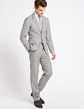 Linen Miracle Tailored Fit Jacket, GREY, catlanding