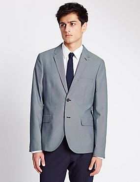 Modern Tailored Fit 2 Button Jacket with Buttonsafe™