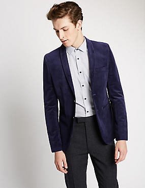 Modern Slim 2 Button Velvet Jacket