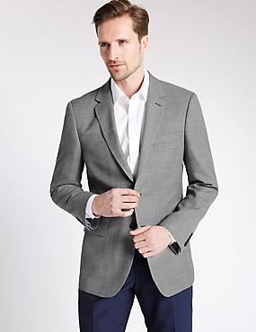 Big & Tall Textured Jacket, NEUTRAL, catlanding