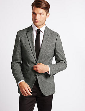 Big & Tall Mouline 2 Button Jacket, GREY, catlanding