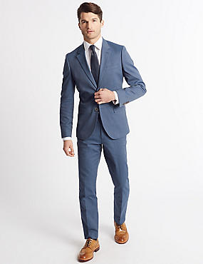 Tailored Fit Jacket, DENIM, catlanding