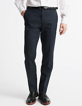 Tailored Fit Trousers, NAVY, catlanding