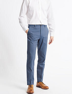 Tailored Fit Trousers, DENIM, catlanding
