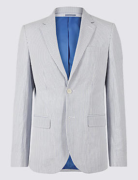 Pure Cotton Tailored Fit Jacket