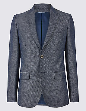 Cotton Rich Tailored Fit Jacket