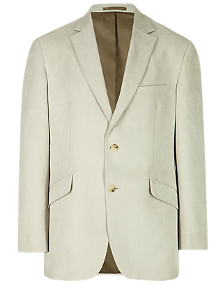 2 Button Crowsfoot Suedette Jacket Clothing