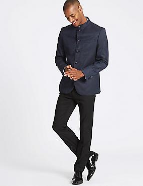 Slim Fit Jacket, NAVY MIX, catlanding